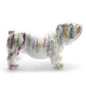 Engelse Bulldog colorful splash