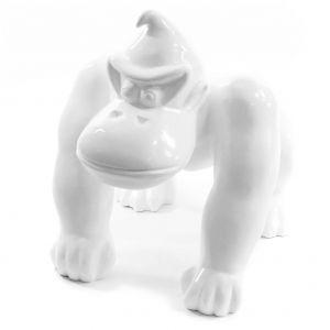 Gorilla decoratie beeld wit