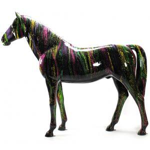 colorful splash horse
