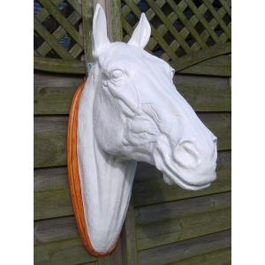 paarden hoofd polyester wit