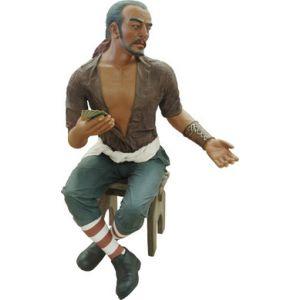 piraat carlos speelkaarten met kruk polyester