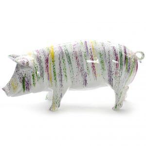 pig colorful splash